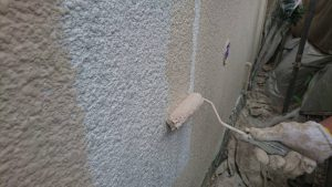 奈良県橿原市 外壁にガイナ塗装1