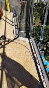 橿原市 屋根リフォーム工事前に雨漏りを防ぐ防水シート