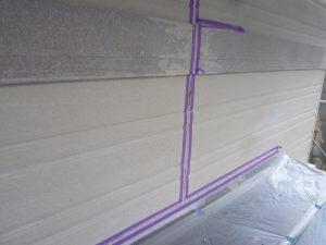 奈良県橿原市 サイディング壁シーリング前の養生テープ張り