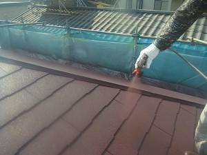 5  屋根中塗り